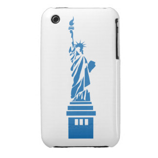 Abstract Art Lady Liberty Blackberry Curve Case-Ma Case-Mate iPhone 3 Case