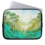 Abstract Art Landscape Skinny Trees Painting Computer Sleeve