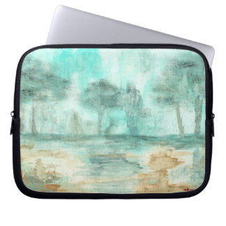 Abstract Art Landscape Trees Forest Rain Painting Laptop Computer Sleeves
