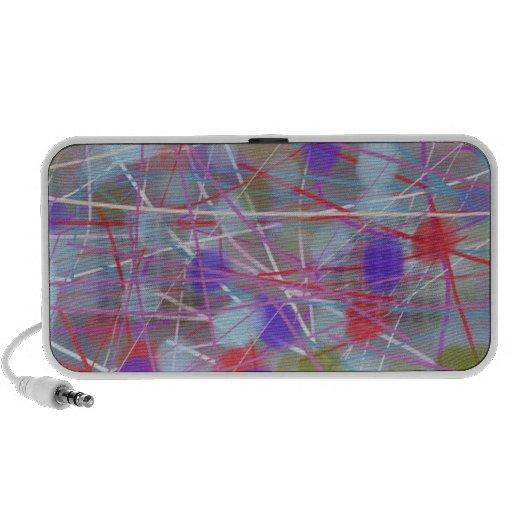 abstract art laptop speaker