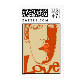 Abstract Art Love Postage