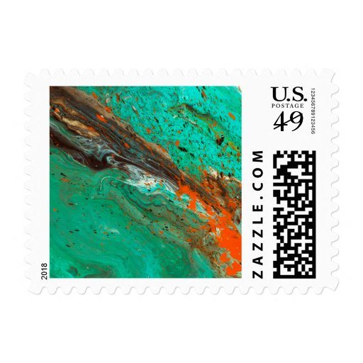 Abstract Art - Lush Earth Postage Stamp