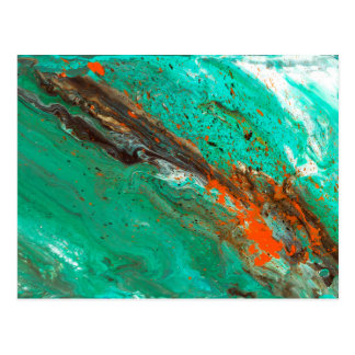 Abstract Art - Lush Earth Postcard