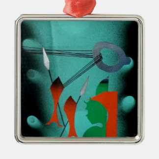 Abstract Art Metal Ornament