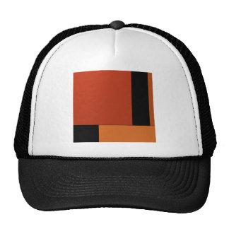 Abstract Art Modern Black Orange Retro Halloween Mesh Hat