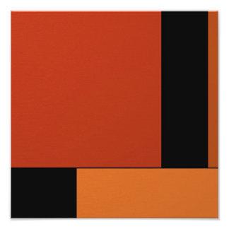 Abstract Art Modern Black Orange Retro Halloween Photograph