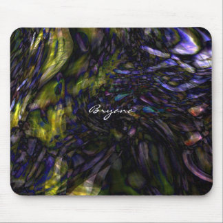 Abstract Art Modern Color Splash Artistic Colorful Mouse Pad