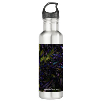 Abstract Art Modern Color Splash Artistic Colorful Water Bottle