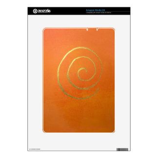 Abstract Art Modern Colors Orange Gold Swirl Whirl Kindle Decal