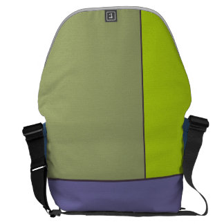 Abstract Art Modern Geometric Color Fields Retro Messenger Bag
