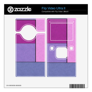 Abstract Art Modern Geometric Color Fields Retro Flip Video Ultra II Skin