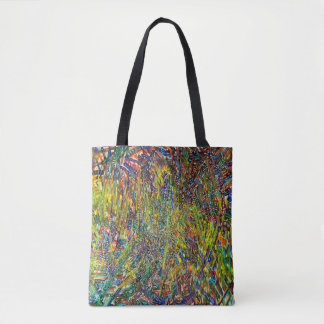Abstract Art Multi Colorful Strokes Tote Bag