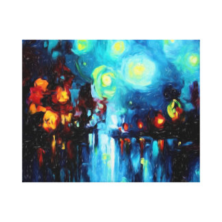 Abstract art Night Dreams  Wrapped Canvas