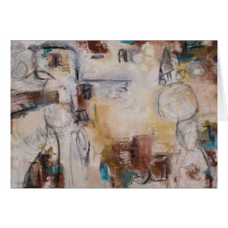 Abstract art notecards card