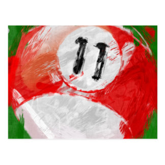 Abstract Art Number 11 Billiards Ball Post Card