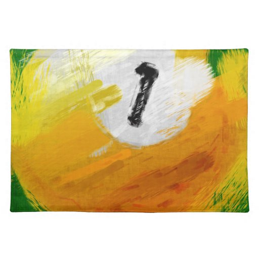 Abstract Art Number 1 Billiards Ball Cloth Placemat