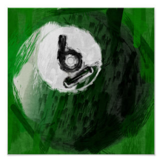 Abstract Art Number 6 Billiards Ball Poster