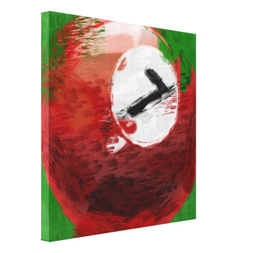 Abstract Art Number 7 Billiards Ball Canvas Print