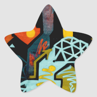 Abstract Art of Arrows Star Sticker