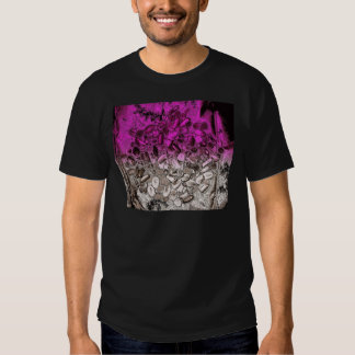 Abstract art of vitamins with purple tint t shirt