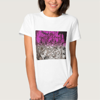 Abstract art of vitamins with purple tint t-shirt