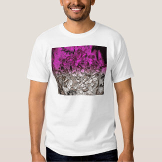 Abstract art of vitamins with purple tint tee shirt