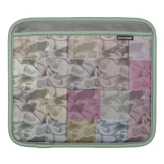 Abstract Art of watery cubes in pastel colors iPad Sleeves