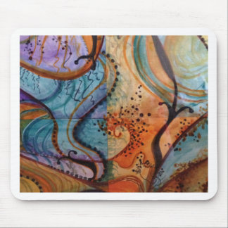 abstract art on an ordinary item mousepad