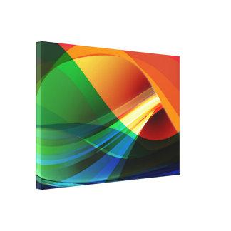 Abstract Art on  Premium WrappedCanvas (Gloss) Canvas Print