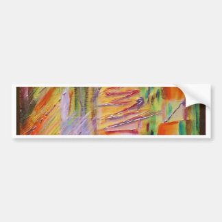 abstract Art orange painted by Tutti Bumper Sticker