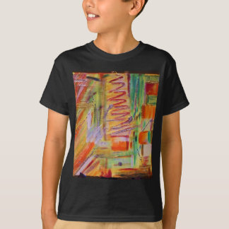 abstract Art orange painted by Tutti T-Shirt
