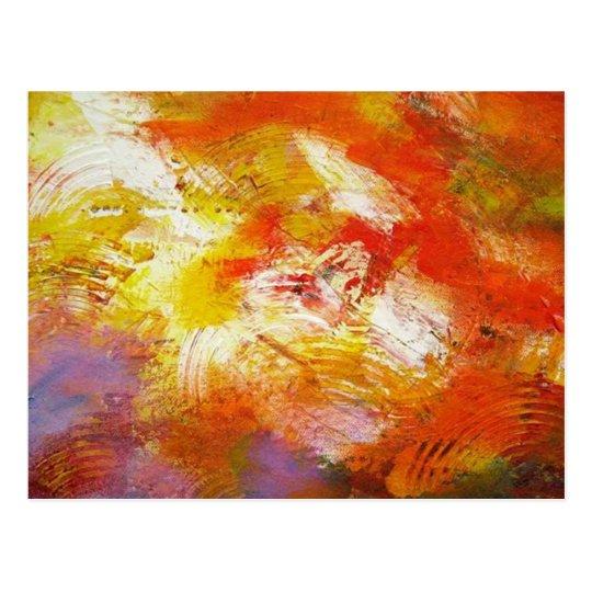 Abstract Art - Original Abstract Painting Print Postcard