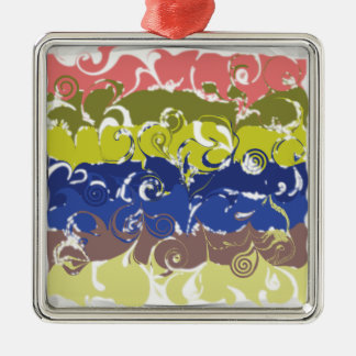 Abstract Art Christmas Ornaments
