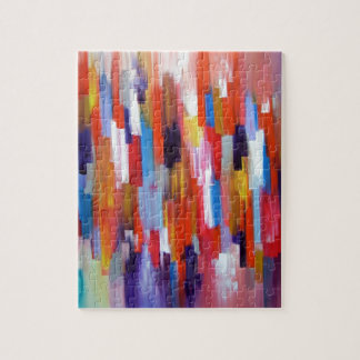 Abstract Art Paint Boxes Watercolor Jigsaw Puzzle