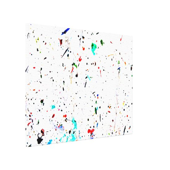 Abstract Art Paint Splashes and Spots Canvas Print