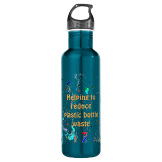 Abstract Art Paint Splashes and Spots Stainless Steel Water Bottle
