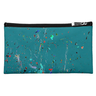 Abstract Art Paint Splashes and Spotty Cosmetic Bag