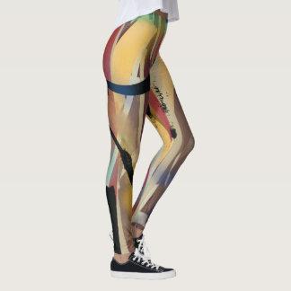 Abstract Art Painting, Artsy Women's Cute Leggings