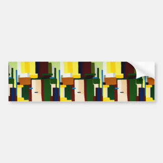 Abstract Art Painting Bumper Sticker