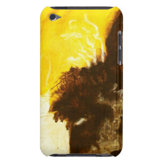 Abstract Art Painting Drips Splatters Yellow Brown iPod Touch Cover