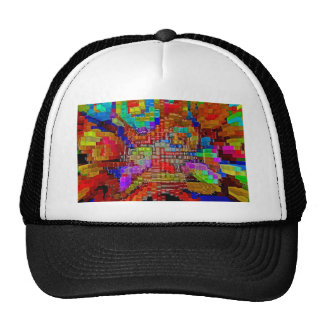 Abstract art painting poster office t-shirt prints trucker hat