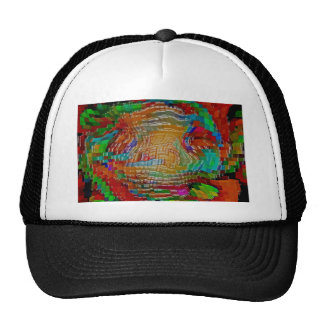 Abstract art painting posters red t-shirts print trucker hat