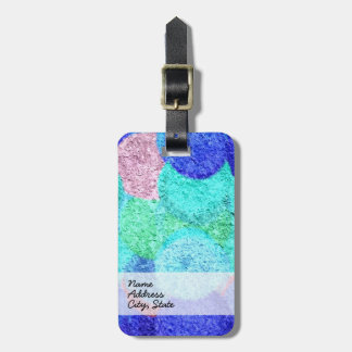 Abstract Art Painting Retro Colors 5 Luggage Tag