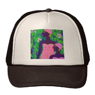 ABSTRACT ART PAINTINGS DRAWINGS TRUCKER HAT