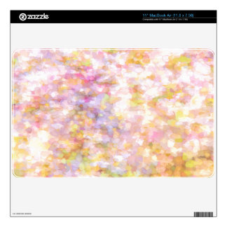 Abstract Art Pale Yellow Pastel Decal For The MacBook Air