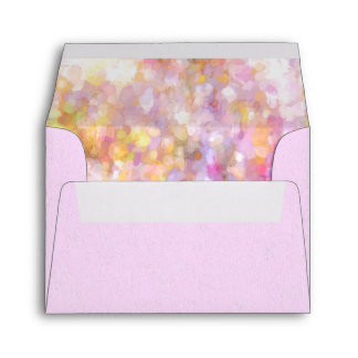 Abstract Art Pale Yellow Pastel Impressionism Envelope
