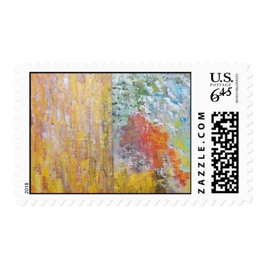 ABSTRACT ART PANELS POSTAGE