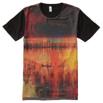 Abstract Art Pattern Print All Over Shirt