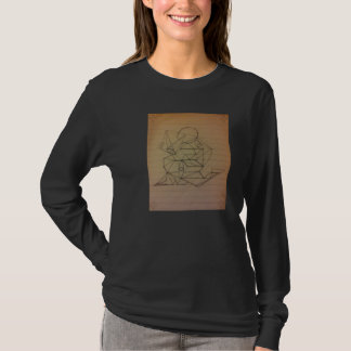 Abstract Art Pencil Sketch Long Sleeve T T-Shirt