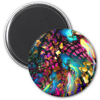 Abstract Art: Pieces Of A Dream 2 Inch Round Magnet